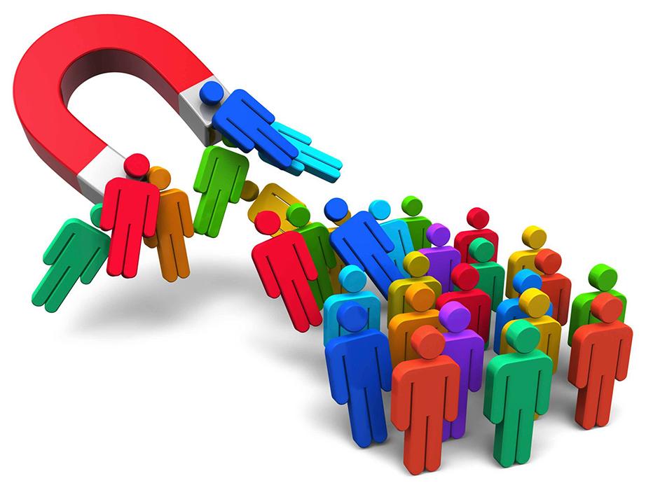 Ganar clientes, atraer personas