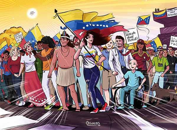 Venezuela Dibujo de Oscar Olivares