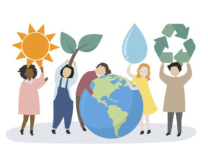 People caring about the world and the environment