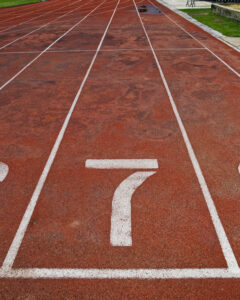 Lane athletics track number 7.